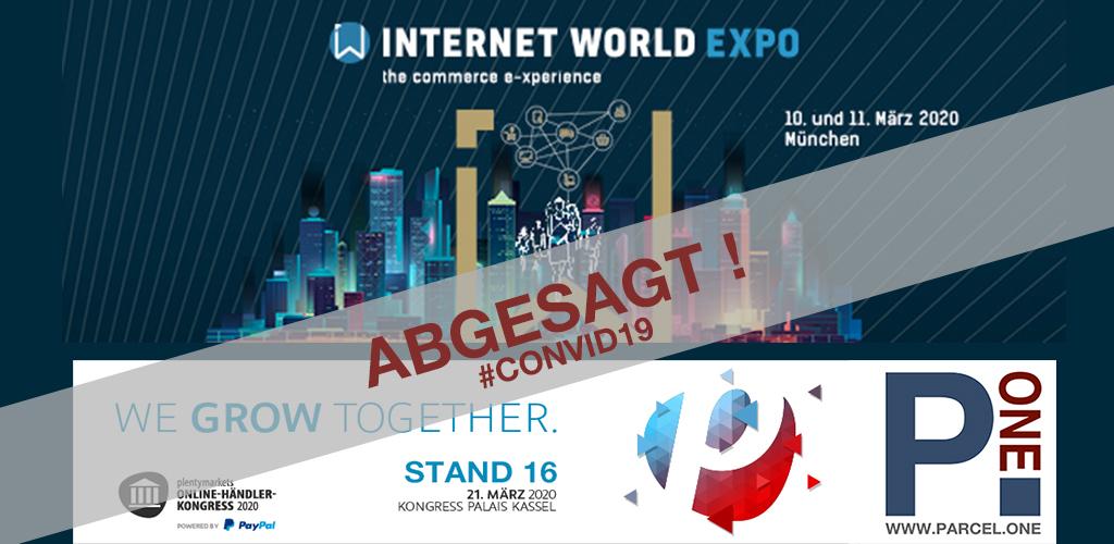 Internet World EXPO und plentymarkets OHK abgesagt